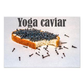 Yoga caviar photographic print