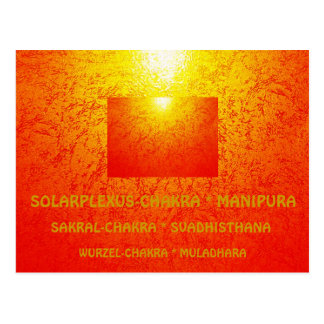 YOGA - Chakra-Postkarte Chakra-ArtCard