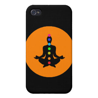 Yoga Chakras - Black iPhone Cases Case For iPhone 4