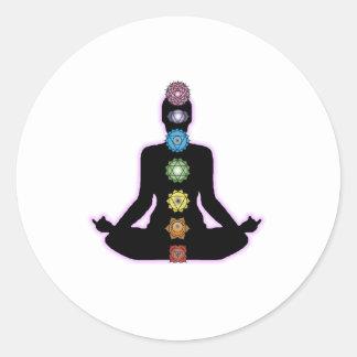 Yoga Chakras Classic Round Sticker