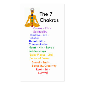 yoga chakras - Customized - Customized Pack Of Standard Business Cards