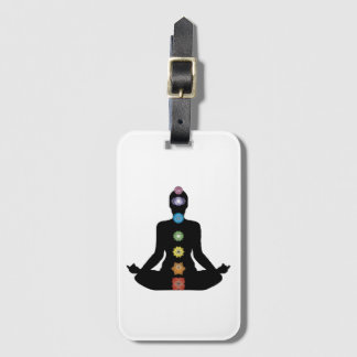 Yoga Chakras Fitness Exercise Luggage Tag