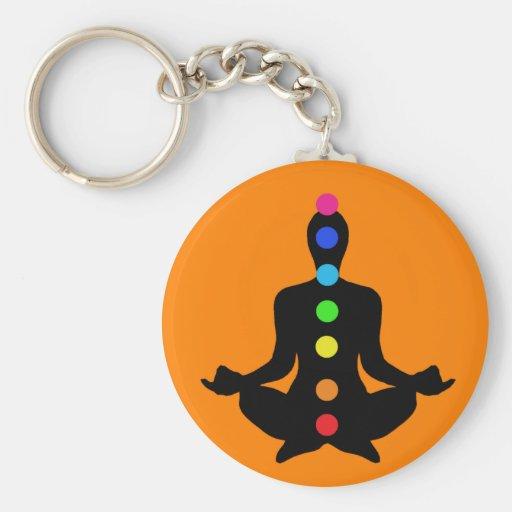 Yoga Chakras Keychain