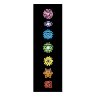 yoga chakras pack of skinny business cards