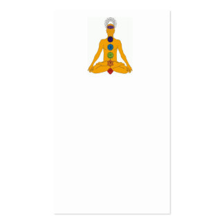 yoga chakras pack of standard business cards