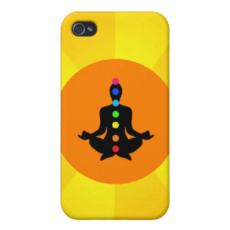 Yoga Chakras - Yellow iPhone Case iPhone 4 Cases