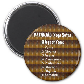 YOGA Checklist : 8 steps of PATANJALI SUTRA 6 Cm Round Magnet