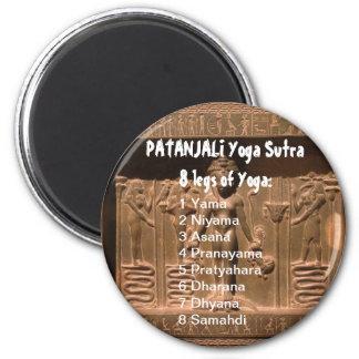 YOGA Checklist : 8 steps of PATANJALI SUTRA 6 Cm Round Magnet