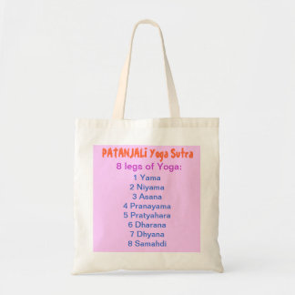 YOGA Checklist 8 steps of PATANJALI SUTRA Canvas Bags