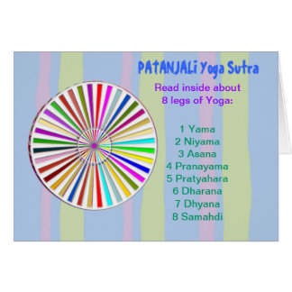 YOGA Checklist : 8 steps of PATANJALI SUTRA Greeting Card