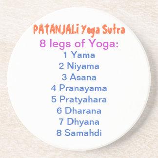 YOGA Checklist : 8 steps of PATANJALI SUTRA Beverage Coasters