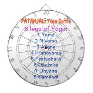 YOGA Checklist : 8 steps of PATANJALI SUTRA Dart Boards