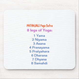 YOGA Checklist : 8 steps of PATANJALI SUTRA Mousepads