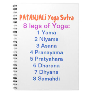 YOGA Checklist : 8 steps of PATANJALI SUTRA Note Book