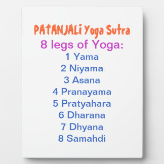 YOGA Checklist : 8 steps of PATANJALI SUTRA Plaques
