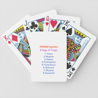 YOGA Checklist : 8 steps of PATANJALI SUTRA Deck Of Cards