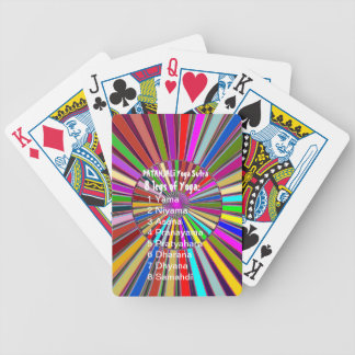 YOGA Checklist : 8 steps of PATANJALI SUTRA Bicycle Poker Deck