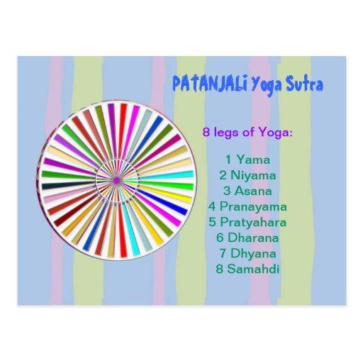 YOGA Checklist : 8 steps of PATANJALI SUTRA Postcard