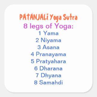 YOGA Checklist : 8 steps of PATANJALI SUTRA Square Sticker