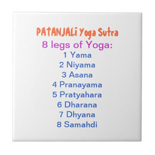 YOGA Checklist : 8 steps of PATANJALI SUTRA Tile