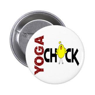Yoga Chick 1 6 Cm Round Badge