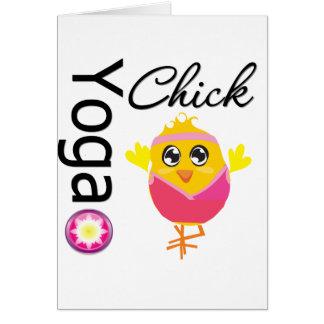 Yoga Chick Greeting Card