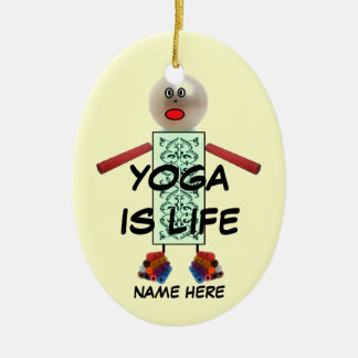 Yoga Christmas Cartoon Christmas Ornament