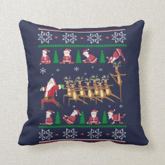 Yoga Christmas Cushion