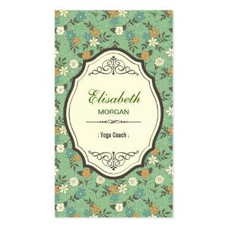 Yoga Coach - Elegant Vintage Floral Pack Of Standard Business Cards