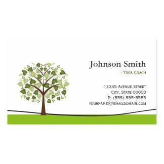 Yoga Coach - Elegant Wish Tree Pack Of Standard Business Cards