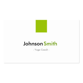 Yoga Coach - Simple Mint Green Business Card