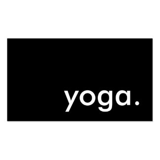 yoga. (color customizable) pack of standard business cards