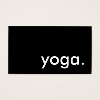 yoga. (color customizable) business card