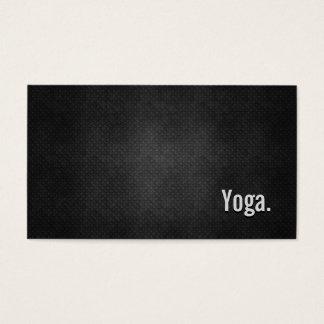 Yoga Cool Black Metal Simplicity Business Card