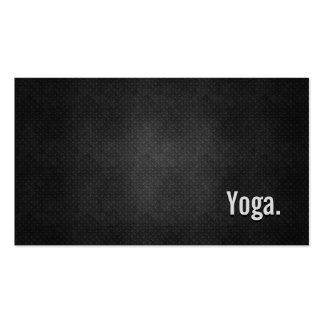 Yoga Cool Black Metal Simplicity Pack Of Standard Business Cards