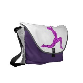 Yoga Crescent-Moon Mehndi Design Messenger Bag