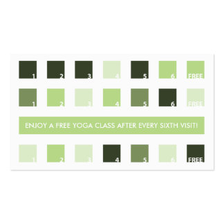 YOGA customer appreciation (mod squares) Pack Of Standard Business Cards