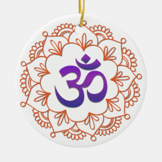 Yoga Design / Om Motif 1 Christmas Ornament