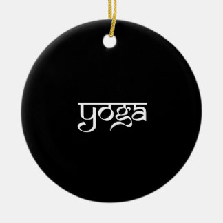 Yoga Design on Sanskrit Style Christmas Ornament