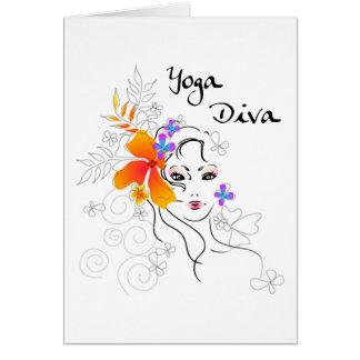 Yoga Diva Gift Greeting Card