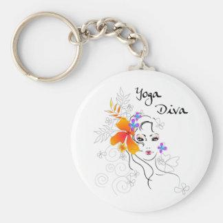 Yoga Diva Key Ring