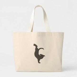 Yoga Dog Pitbull Silhouette Jumbo Tote Bag