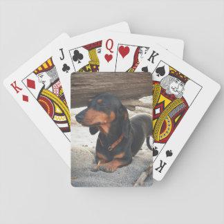 Yoga dog playing cards