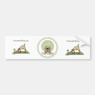 Yoga Dog - Upward Facing Dog Pose Bumper Sticker