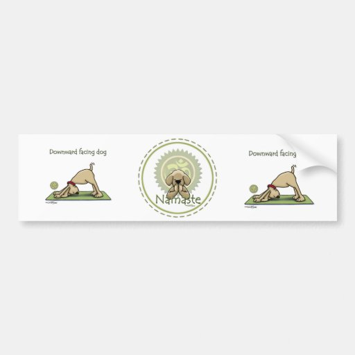 Yoga Dog - Upward Facing Dog Pose Bumper Stickers