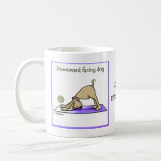 Yoga Dog - Upward Facing Dog Pose Coffee Mug