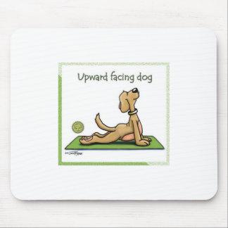 Yoga Dog - Upward Facing Dog Pose Mouse Mat