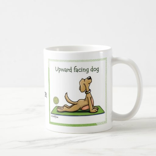 Yoga Dog - Upward Facing Dog Pose Mugs