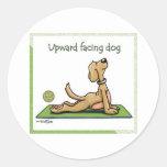 Yoga Dog - Upward Facing Dog Pose Stickers