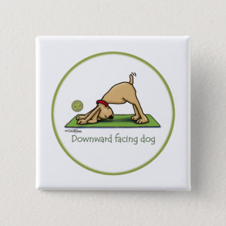 Yoga - Downward Facing Dog 15 Cm Square Badge